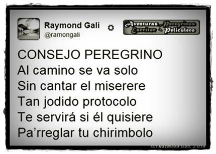 Aventuras Peregrinas - Raymond Gali - CONSEJO PEREGRINO3