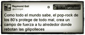 Aventuras Peregrinas - Raymond Gali - Camiseta Pop-Rock Protege de Gilipolleces