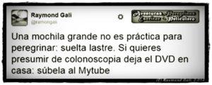 Aventuras Peregrinas - Raymond Gali -Mochila Grande_NoDVDColonoscopia