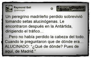 Aventuras Peregrinas - Raymond Gali - Peregrino Madrileño Alucinado